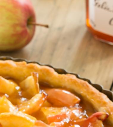 Recette tartes aux pommes gelée de coings Bonne Maman