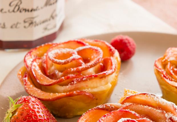 Recette tartelettes pétales fraises et framboises Bonne Maman